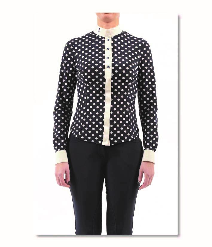 polka dots shirt